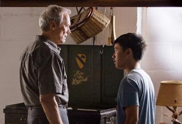 Clint Eastwood as Walt Kowalski and Bee Vang as Thao in &quot;Gran Torino.&quot;